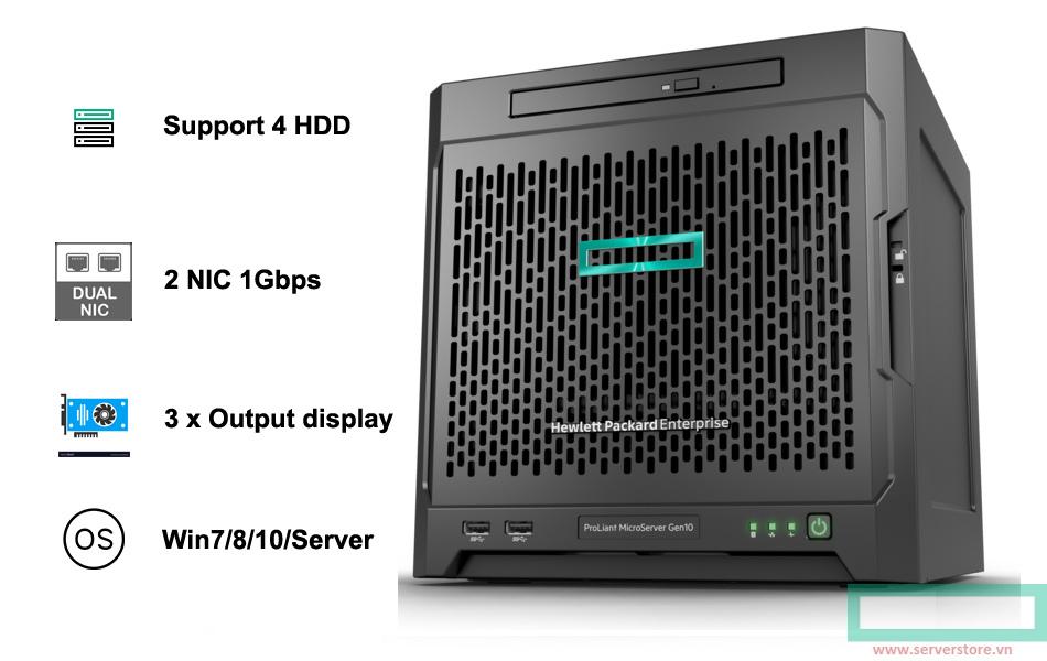 HPE MicroServer Gen10 - 870208-371