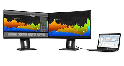 HP Z25n 25-inch Narrow Bezel IPS Display - Virtually borderless